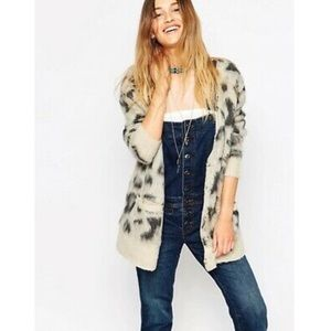 Free People Out Of Africa Leopard Cardigan